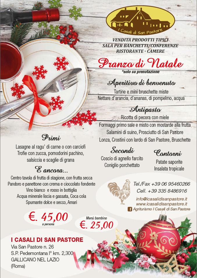 Menu Di Natale A Roma.Pranzo Di Natale Agriturismo I Casali Di San Pastore